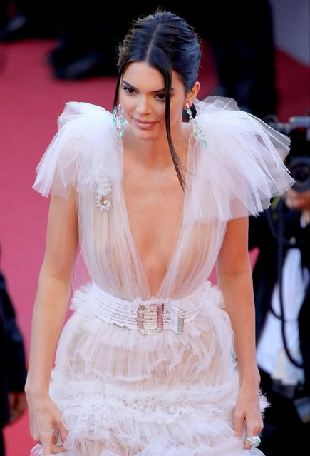 "Kendall Jenner attends the screening of ""Girls Of The Sun (Les Filles Du Soleil)"" during the 71st annual Cannes Film Festival at Palais des Festivals on May 12, 2018 in Cannes, France. (Photo by Andreas Rentz/Getty Images)"