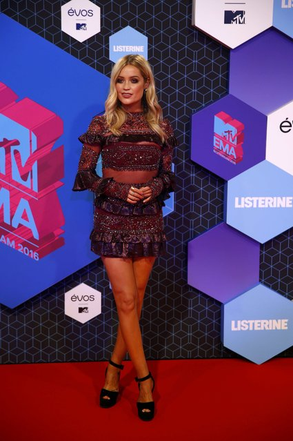 Presenter Laura Whitmore arrives for the 2016 MTV Europe Music Awards at the Ahoy Arena in Rotterdam, Netherlands, November 6, 2016. (Photo by Michael Kooren/Reuters)