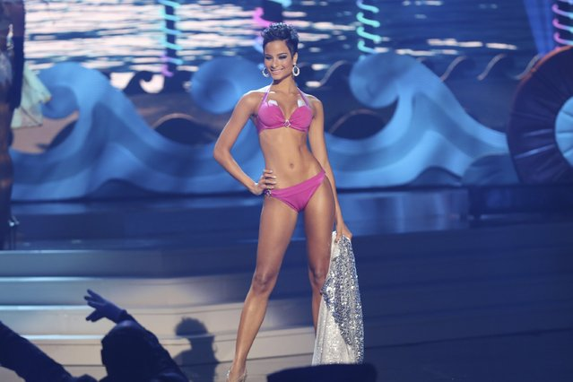 Miss Jamaica Kaci Fennell onstage at Florida International University on January 25, 2015 in Miami, Florida. (Photo by Alexander Tamargo/Getty Images)