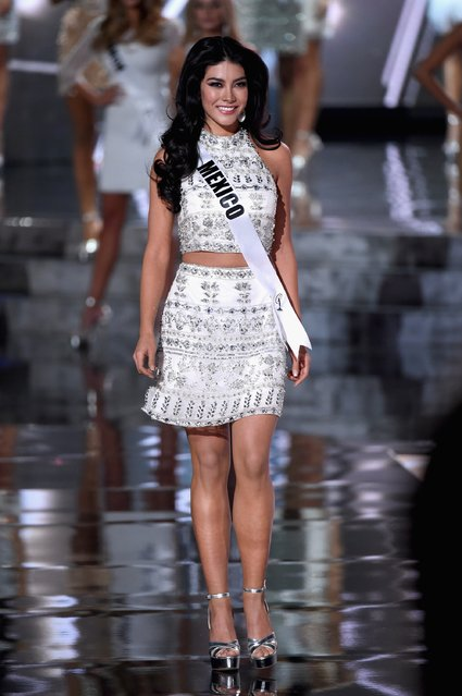 Top 15 contestant Miss Mexico 2015, Wendy Esparza, walks onstage during the 2015 Miss Universe Pageant at The Axis at Planet Hollywood Resort & Casino on December 20, 2015 in Las Vegas, Nevada. (Photo by Ethan Miller/Getty Images)