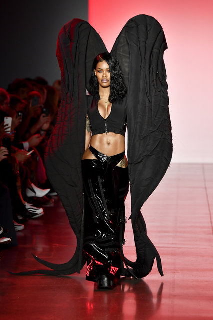 Teyana Taylor walks the runway for Namilia during New York Fashion Week: The Shows at Gallery II at Spring Studios on September 11, 2018 in New York City. (Photo by Frazer Harrison/Getty Images)