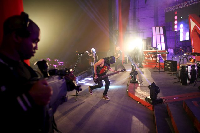 """Athanai band performs at the """"Cuerda Viva"""" (Live Strings) alternative music festival is taking place, in Havana, February 26, 2016. (Photo by Alexandre Meneghini/Reuters)"""