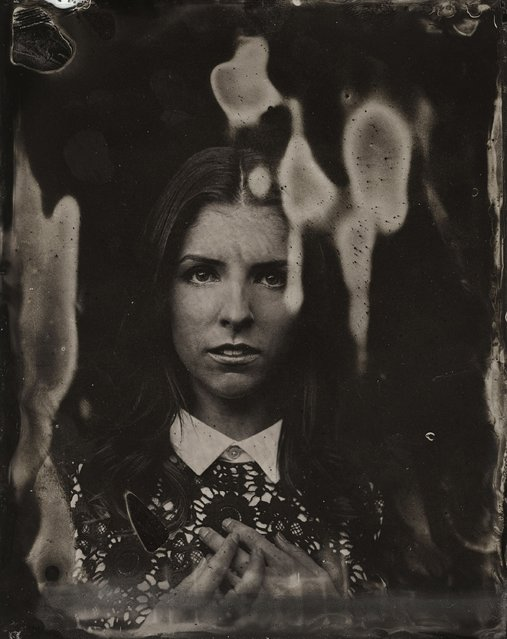 Anna Kendrick  poses for a tintype (wet collodion) portrait at The Collective and Gibson Lounge Powered by CEG, during the 2014 Sundance Film Festival in Park City, Utah. (Photo by Victoria Will/AP Photo/Invision)
