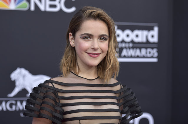Kiernan Shipka arrives at the Billboard Music Awards on Wednesday, May 1, 2019, at the MGM Grand Garden Arena in Las Vegas. (Photo by Richard Shotwell/Invision/AP Photo)