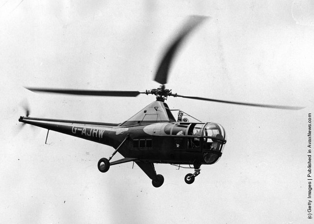 A Westland Sikorsky H-5 helicopter in flight