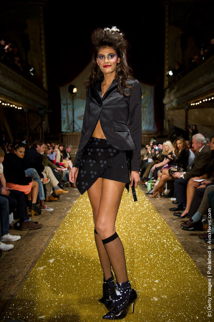 Models walk the runway at the A Child of the Jago fashion show during London Fashion Week