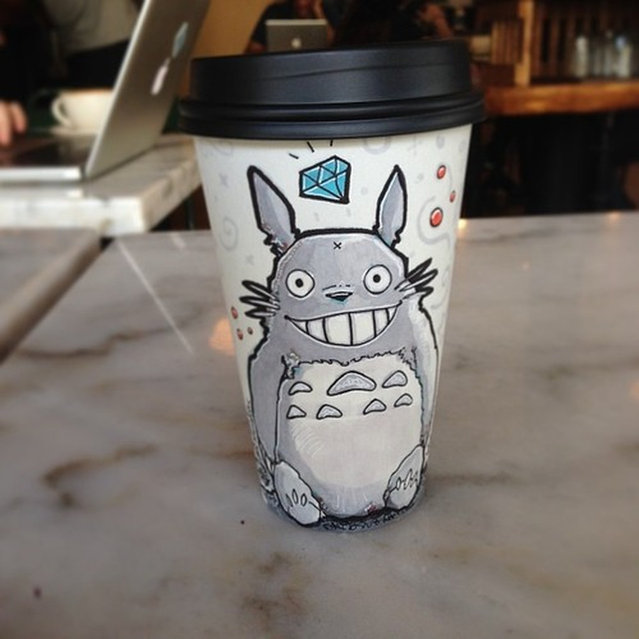 Paper Coffee Cup Art By Miguel Cardona