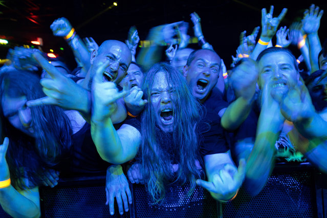 Fans during the concert of US metal band Slayer at the Papp Laszlo Budapest Sports Arena in Budapest, Hungary, 11 June 2019. (Photo by Balázs Mohai/EPA/EFE)