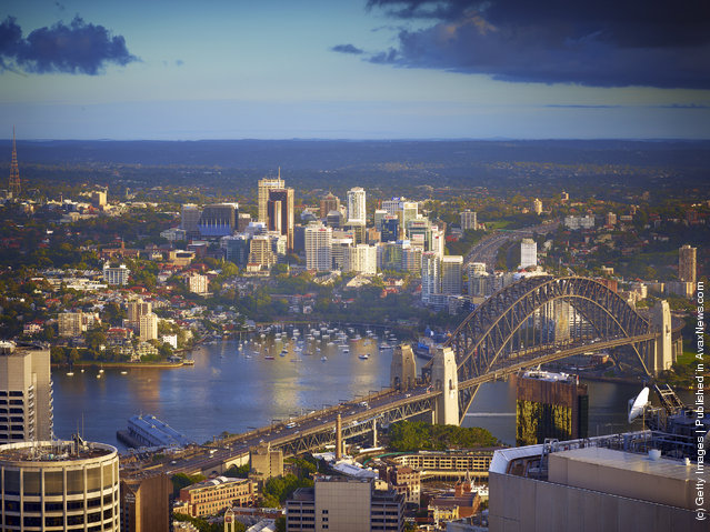 Sydney Welcomes Summer Solstice From The Tower Eye
