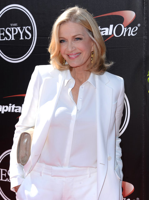 Diane Sawyer arrives at the ESPY Awards at the Microsoft Theater on Wednesday, July 15, 2015, in Los Angeles. (Photo by Richard Shotwell/Invision/AP Photo)
