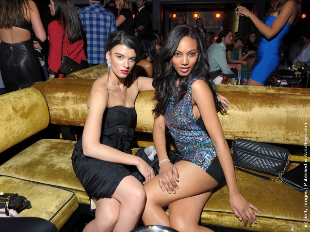 SI swimsuit models  Crystal Renn and Ariel Meredith attend SI Swimsuit On Location hosted by Haze Nightclub at the Aria Resort & Casino at CityCenter
