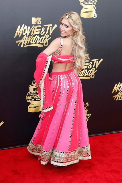 Farrah Abraham arrives for the 2017 MTV Movie and TV Awards at the Shrine Auditorium in Los Angeles, California, USA, 07 May 2017. The movies are nominated by producers and executives from MTV and the winners are chosen online by the general public. (Photo by Paul Buck/EPA)