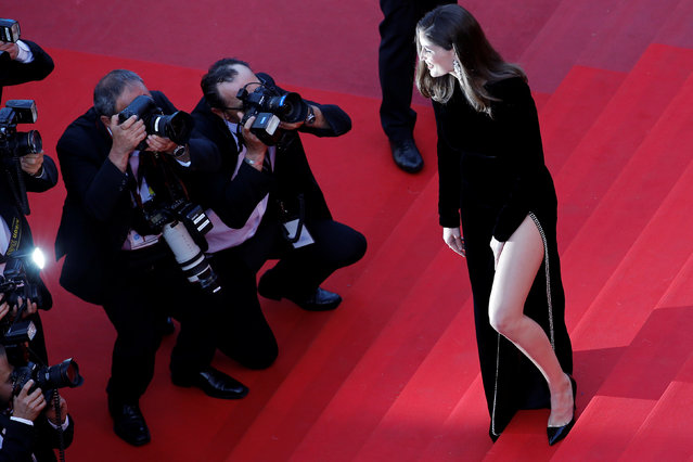 "Actress Laetitia Casta attends the ""The Meyerowitz Stories"" screening during the 70th annual Cannes Film Festival at Palais des Festivals on May 21, 2017 in Cannes, France. (Photo by Stephane Mahe/Reuters)"