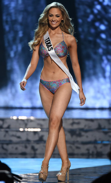 Miss Texas USA Daniella Rodriguez competes in the swimsuit competition during the 2016 Miss USA pageant preliminary competition at T-Mobile Arena on June 1, 2016 in Las Vegas, Nevada. (Photo by Ethan Miller/Getty Images)