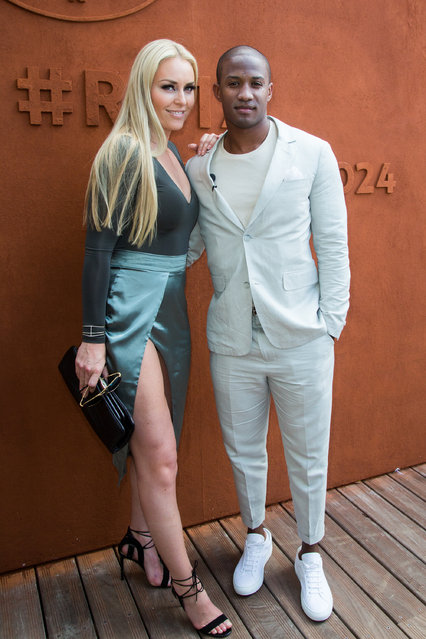 Lindsey Vonn and her boyfriend Kenan Smith on Village during French Tennis Open at Roland-Garros arena  in Paris, France on June 9, 2017. (Photo by Nasser Berzane/ABACA/INSTARimages.com)