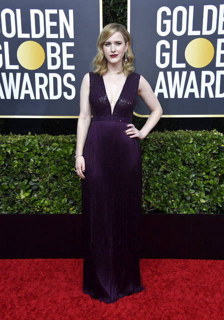 Rachel Brosnahan attends the 77th Annual Golden Globe Awards at The Beverly Hilton Hotel on January 05, 2020 in Beverly Hills, California. (Photo by Frazer Harrison/Getty Images)
