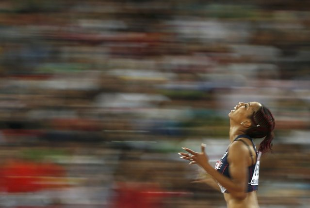 Jeanine Assani Issouf of France competes in the women's triple jump final during the 15th IAAF World Championships at the National Stadium in Beijing, China, August 24, 2015. (Photo by Phil Noble/Reuters)