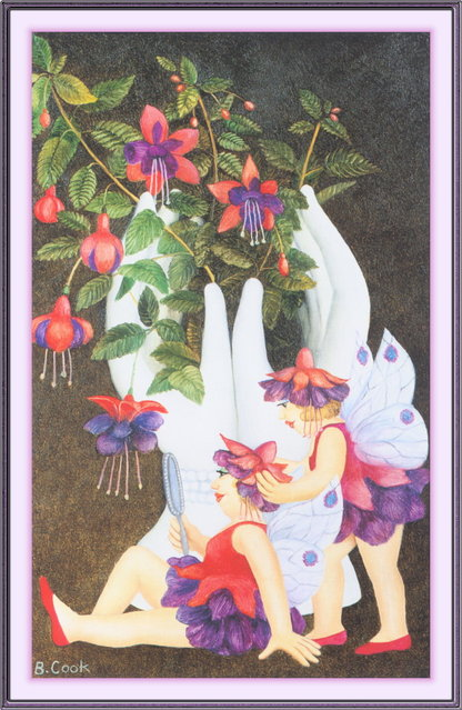 Fuchsia Fairies. Artwork by Beryl Cook