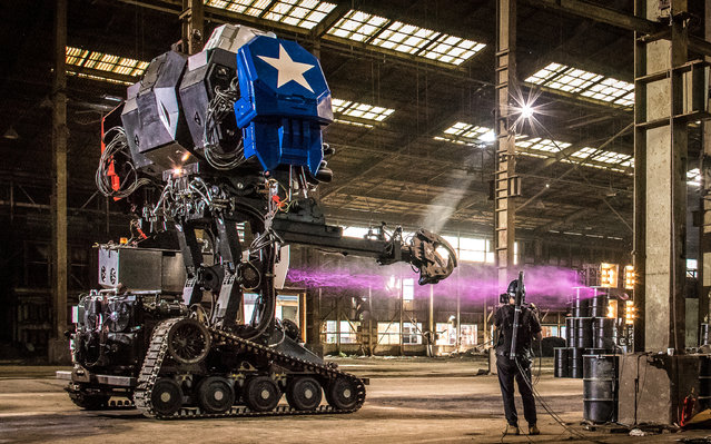 Eagle Prime (MK3), a giant robot by MegaBots Inc. which manufactures giant piloted humanoid fighting robots headquartered in Berkeley, California on October 18, 2017. (Photo by Courtesy Michael Mauldin/Reuters/MegaBots Inc)
