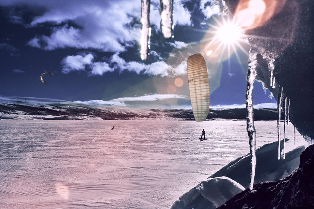 Competitor practises during the Red Bull Ragnarok at Hardangervidda in Haugastol, Norway. (Photo by Red Bull/SWNS.com)