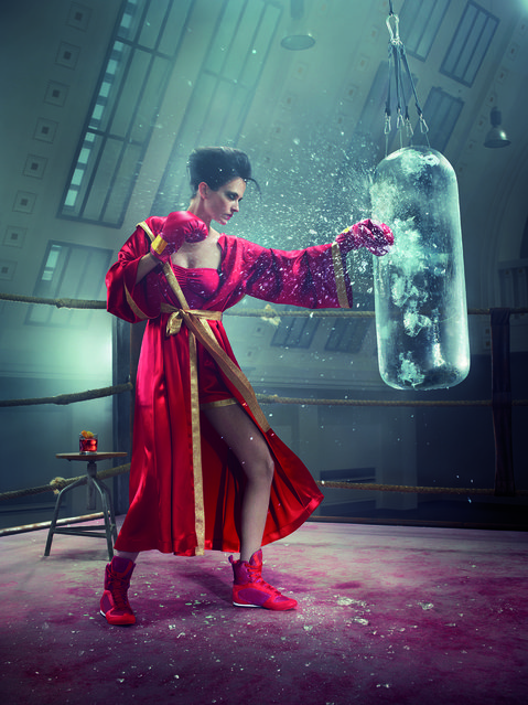 Eva Green poses for the month of May. (Photo by Julia Fullerton-Batten/Campari Calendar 2015)