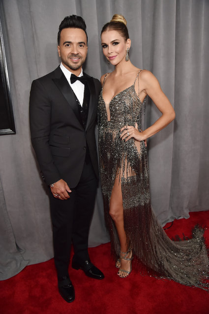 Recording artist Luis Fonsi and model Agueda Lopez attend the 60th Annual GRAMMY Awards at Madison Square Garden on January 28, 2018 in New York City. (Photo by Kevin Mazur/Getty Images for NARAS)