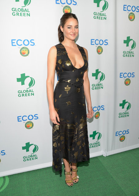 Actress Shailene Woodley attends the Global Green 20th Anniversary Environmental Awards at Alexandria Ballrooms on September 29, 2016 in Los Angeles, California. (Photo by Michael Tullberg/Getty Images)