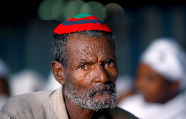 A member of the Falash Mura Jewish Ethiopian community attends a prayer service at the HaTikvah Synagogue in Gondar, northern Ethiopia, September 30, 2016. (Photo by Tiksa Negeri/Reuters)