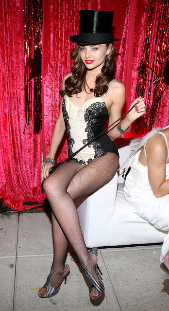 Victoria's Secret model Miranda Kerr hosts the Sеxy Circus Halloween Party at Catch Rooftop on October 31, 2011 in New York City. (Photo by Jerritt Clark/WireImage)