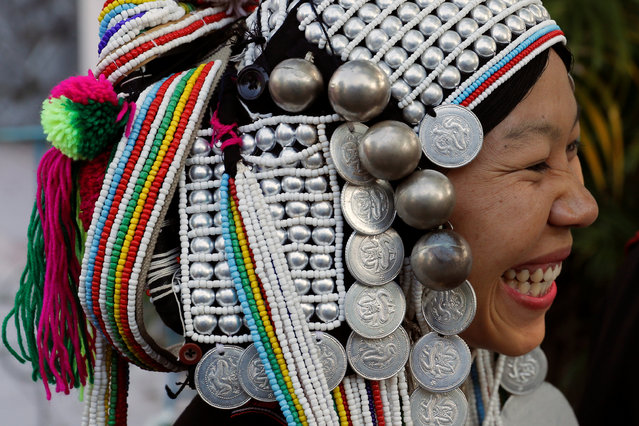 A Catholic woman from Shan state smiles as Catholics from all over Myanmar gather to welcome Pope Francis, before his visit to Yangon, Myanmar November 26, 2017. (Photo by Jorge Silva/Reuters)