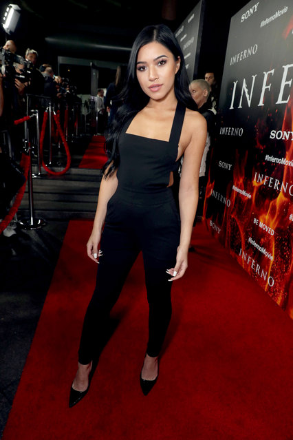 """Julia Kelly seen at Columbia Pictures Presents in Association with Imagine Entertainment the Los Angeles Special Red Carpet Screening of """"Inferno"""" at The DGA on Tuesday, October 25, 2016, in Los Angeles. (Photo by Eric Charbonneau/Invision for Sony Pictures/AP Images)"""