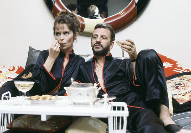 Former Beatle Ringo Starr with wife Barbara Bach, May 16, 1983. (Photo by AP Photo/Pizac)