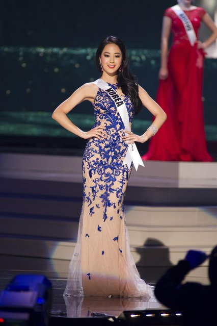 Yoo Yebin, Miss Korea 2014 competes on stage in her evening gown during the Miss Universe Preliminary Show in Miami, Florida in this January 21, 2015 handout photo. (Photo by Reuters/Miss Universe Organization)