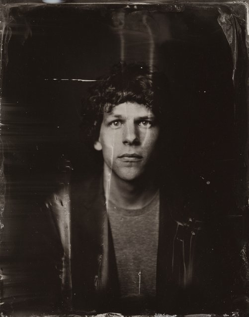 Jesse Eisenberg  poses for a tintype (wet collodion) portrait at The Collective and Gibson Lounge Powered by CEG, during the 2014 Sundance Film Festival in Park City, Utah. (Photo by Victoria Will/AP Photo/Invision)