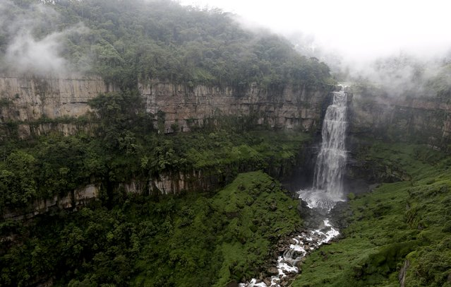 A general view of the Tequendama Falls (Salto del Tequendama) near Bogota March 21, 2015. (Photo by John Vizcaino/Reuters)