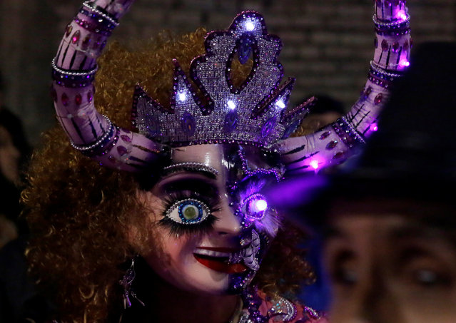 A member of the Diablada  Urus group attends  the carnival parade in Oruro, Bolivia February 25, 2017. (Photo by David Mercado/Reuters)