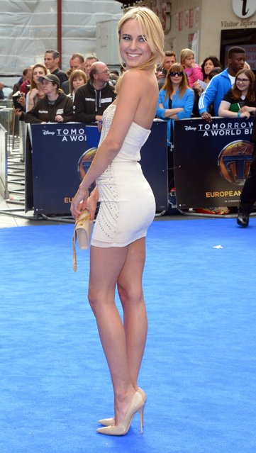 Kimberley Garner attends the Tomorrowland: A World Beyond, European premiere at Leicester Square on May 17, 2015 in London, England. (Photo by Stuart C. Wilson/Getty Images)
