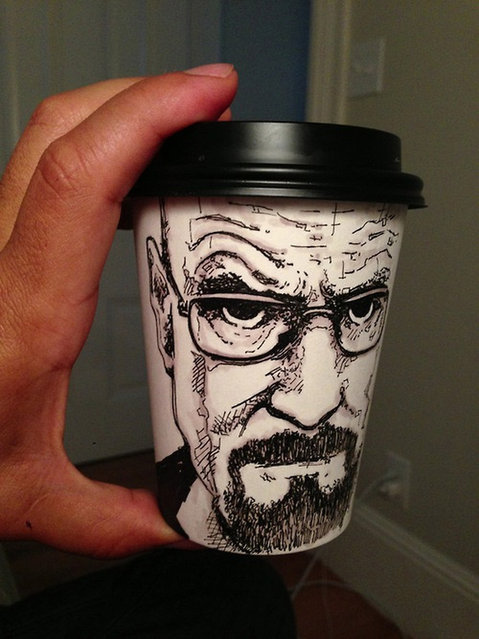 Paper Coffee Cup Art By Miguel Cardona