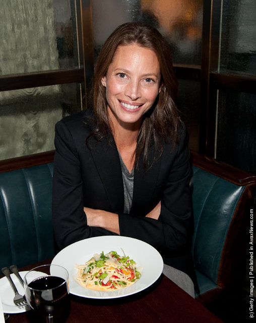 Christy Turlington Burns attends Christy Turlington Burns Pre-Marathon Pasta Dinner at The National
