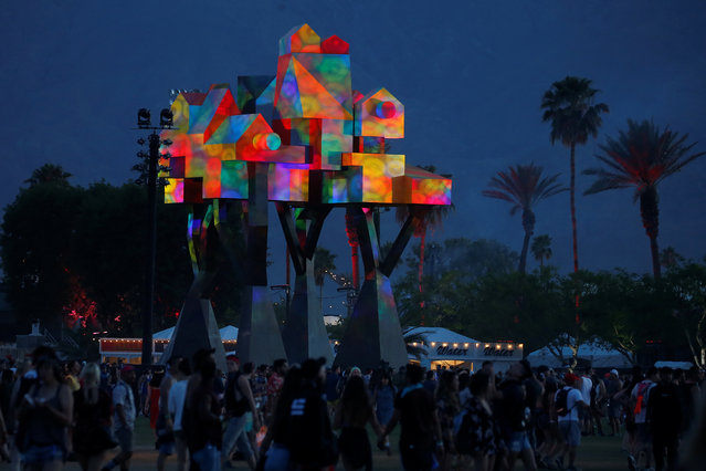 The grounds are pictured during the Coachella Valley Music and Arts Festival on April 16, 2017 in Indio, California. (Photo by Carlo Allegri/Reuters)