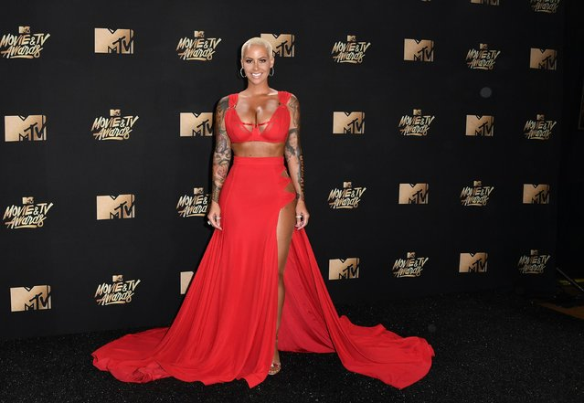 Amber Rose arrives at the 2017 MTV Movie And TV Awards at The Shrine Auditorium on May 7, 2017 in Los Angeles, California. (Photo by Rob Latour/Rex Features/Shutterstock)
