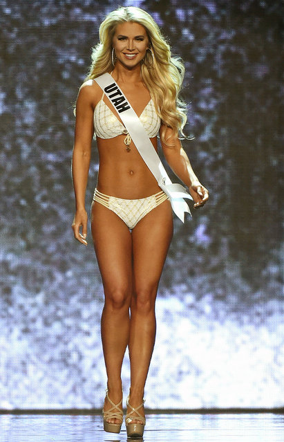 Miss Utah USA Teale Murdock competes in the swimsuit competition during the 2016 Miss USA pageant preliminary competition at T-Mobile Arena on June 1, 2016 in Las Vegas, Nevada. (Photo by Ethan Miller/Getty Images)