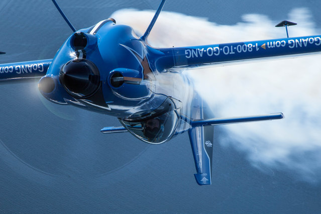 Air National Guard takes to the skies over Puget Sound during Seafair 2015 on Thurs., July 30, 2015 in Seattle, Wash. (Photo by Matt Mills McKnight/AP Images for John Klatt Airshows, Inc.)