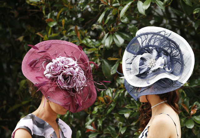 Britain Horse Racing, Royal Ascot, Ascot Racecourse on June 16, 2016. Ladies Day Racegoers wear hats at the Royal Ascot. (Photo by Andrew Boyers/Reuters)