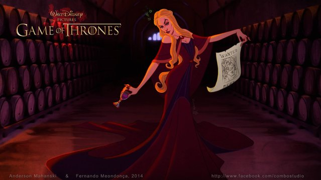 Game Of Thrones Disney Style By Fernando Mendonca And Anderson Mahans