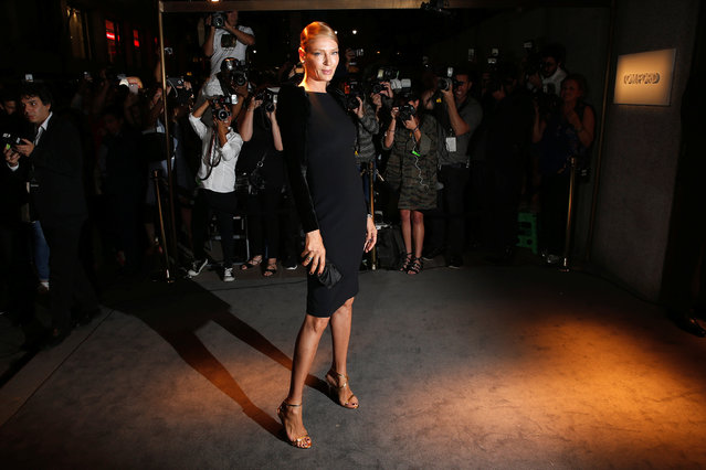 Actress Uma Thurman arrives to attend a presentation of Tom Ford's Autumn/Winter 2016 collections during New York Fashion Week in the Manhattan borough of New York, U.S., September 7, 2016. (Photo by Lucas Jackson/Reuters)