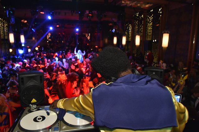 Questlove performs as Moto X presents Heidi Klum's 15th Annual Halloween Party sponsored by SVEDKA Vodka at TAO Downtown on October 31, 2014 in New York City. (Photo by Mike Coppola/Getty Images for Heidi Klum)