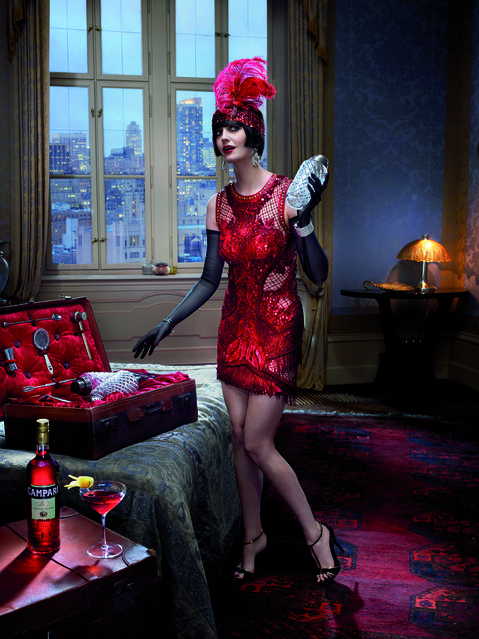 Eva Green poses for the month of June. (Photo by Julia Fullerton-Batten/Campari Calendar 2015)