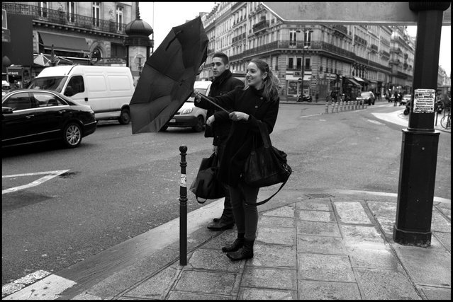 Oops! Up, up and away. (Photo and comment by Peter Turnley)