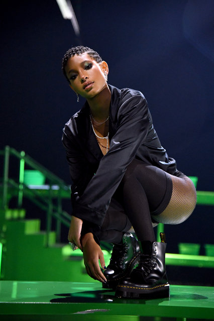 In this image released on October 1, Willow Smith is seen onstage during Rihanna's Savage X Fenty Show Vol. 2 presented by Amazon Prime Video at the Los Angeles Convention Center in Los Angeles, California; and broadcast on October 2, 2020. (Photo by Kevin Mazur/Getty Images for Savage X Fenty Show Vol. 2 Presented by Amazon Prime Video)